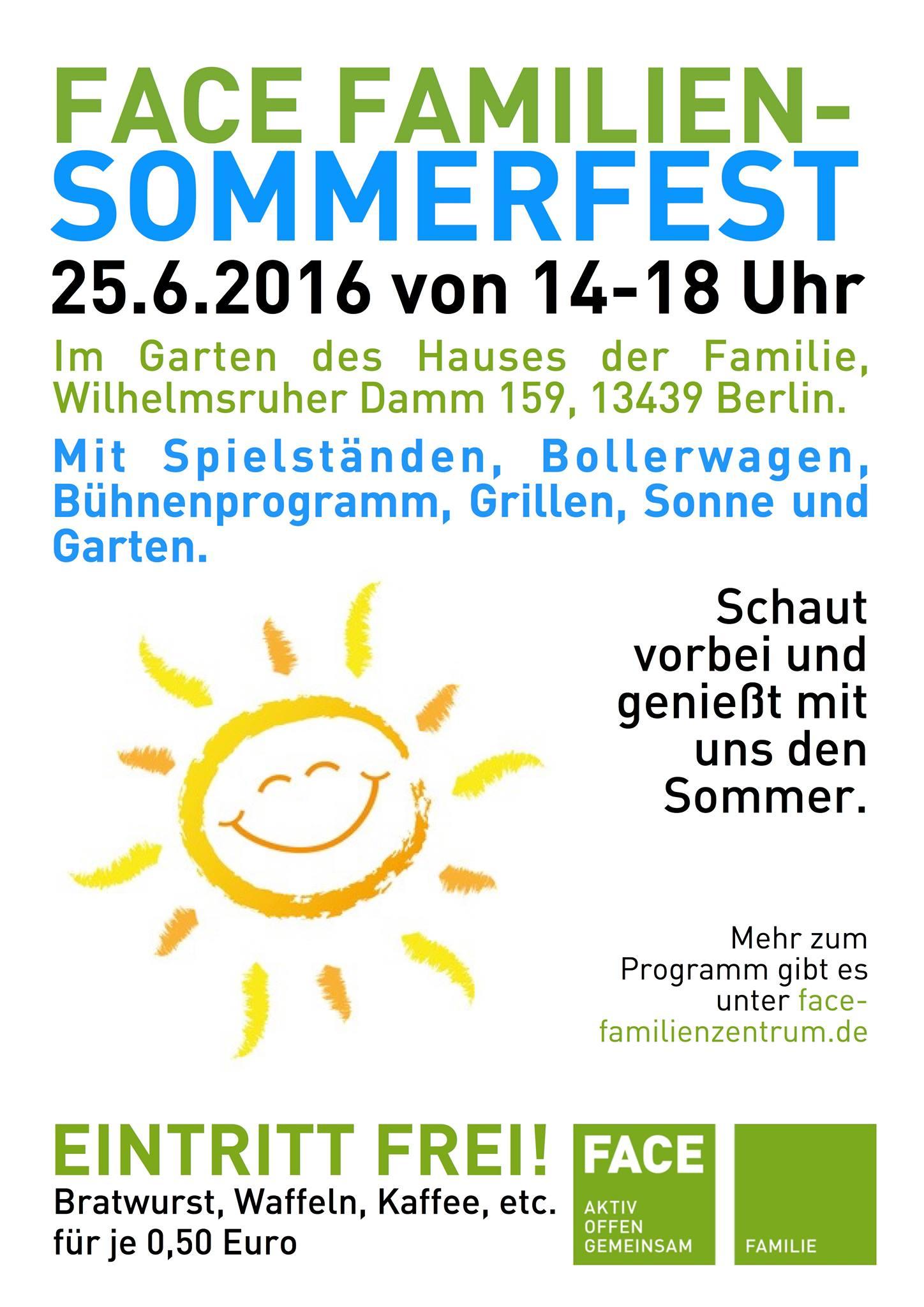 FACE Familiensommerfest am 25.6.2016