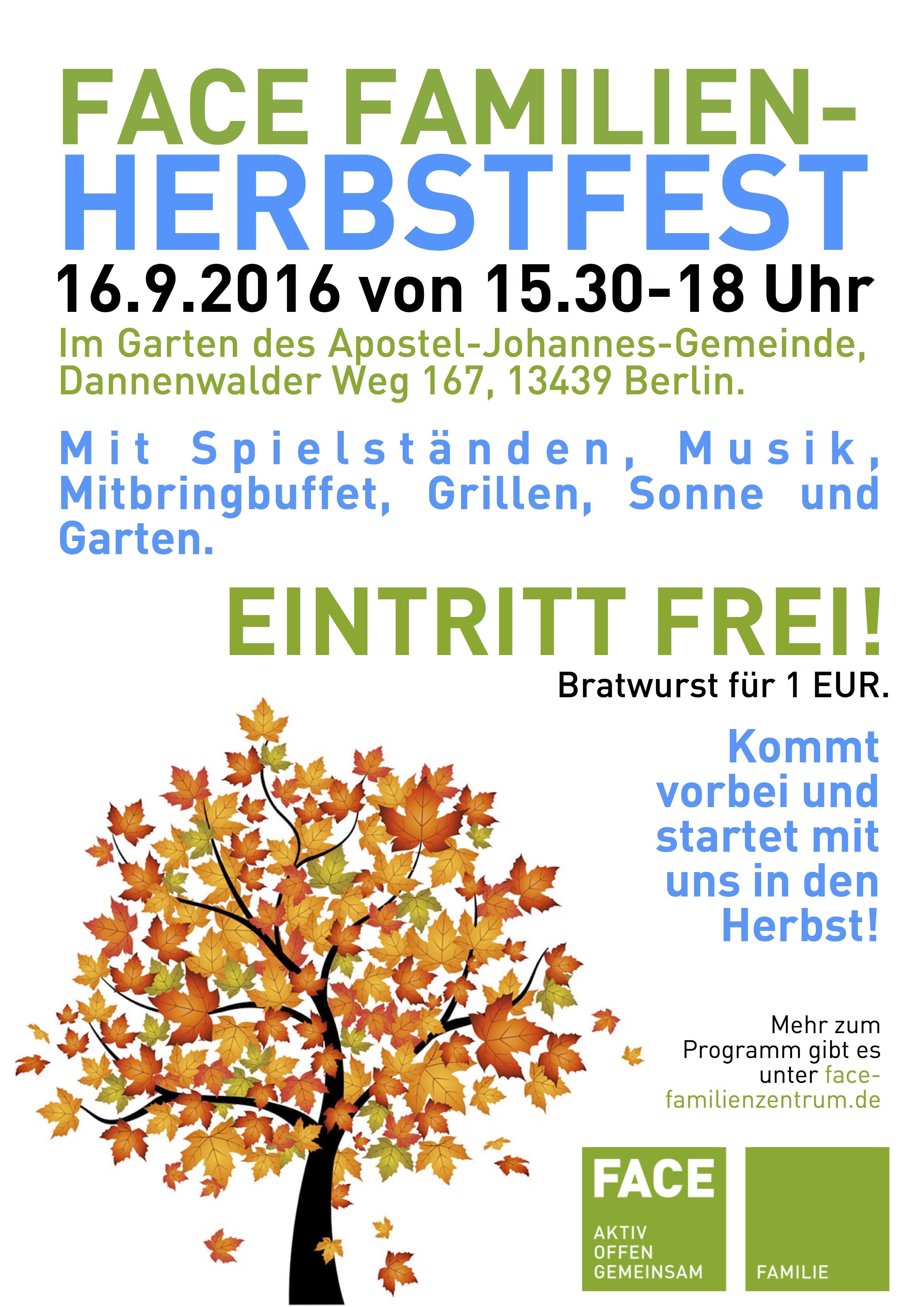 FACE Herbstfest am 16.9.2016
