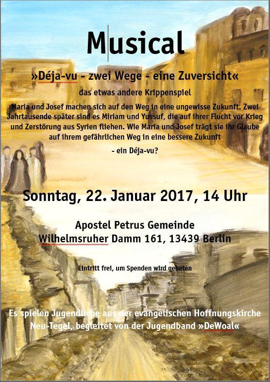 Musical am 22.1.17 in der Apostel-Petrus-Gemeinde