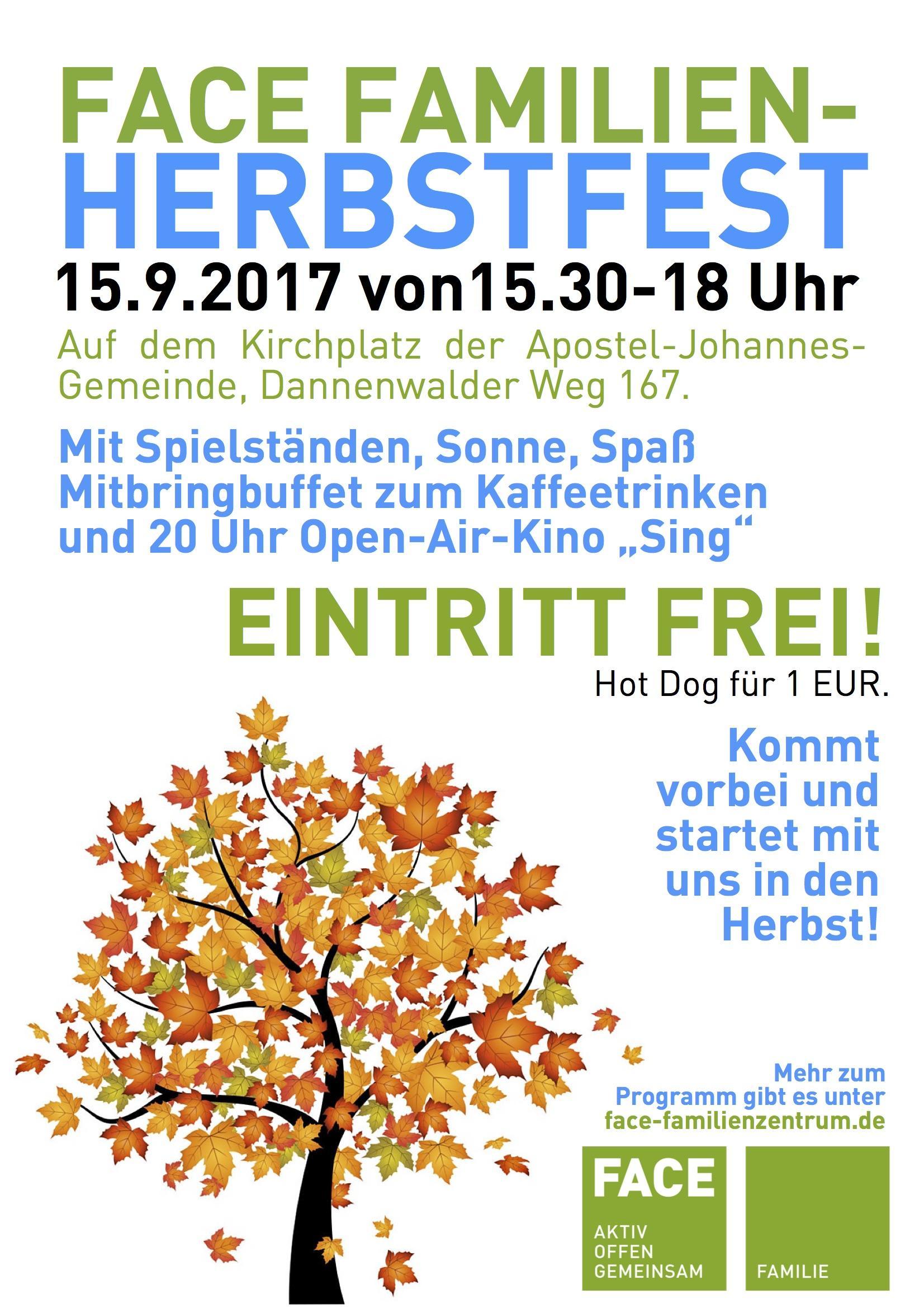 Herbstfest am 15.9. ab 15.30 Uhr / VIERTEL KINO