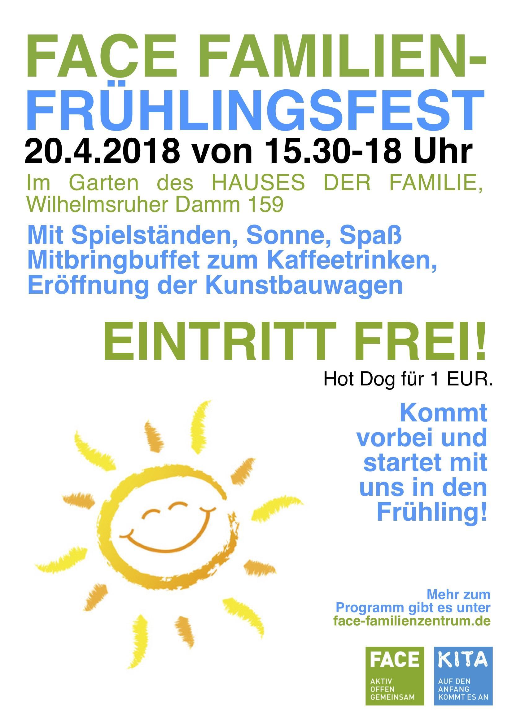 FACE Frühlingsfest am 20.4.18